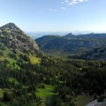 View northeast from the Sourdough Ridge Trail.- Burroughs Mountain Hike
