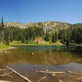 Shadow Lake in Yakima Park.- Sunrise Rim Trail Hike
