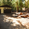 Restroom facilities at White River Campground.- White River Campground