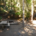 Typical campsite at White River Campground.- White River Campground