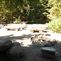 Communal fire pit and amphitheater at White River Campground.- White River Campground