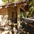 Historic patrol cabin that is no longer in use at White River Campground.- White River Campground