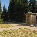 Vault toilet facility at Sunrise Camp.- Sunrise Camp