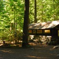 Restroom facilities at Ohanapecosh Campground.- Ohanapecosh Campground