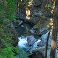 Ohanapecosh River from the Silver Falls Loop Trail.- Silver Falls and Hot Springs Loop Trail