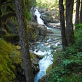Silver Falls, Mount Rainier National Park.- Silver Falls and Hot Springs Loop Trail