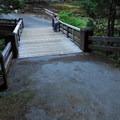Pedestrian bridge over Box Canyon.- Box Canyon Overlook