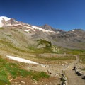 Mount Rainier (14,411') and Paradise Park from the Skyline Trail.- Skyline Trail Hike