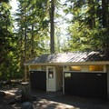 Restroom facilities at Cougar Rock Campground.- Cougar Rock Campground