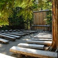 Cougar Rock Campground's amphitheater.- Cougar Rock Campground