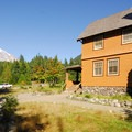 National Park Inn and Mount Rainier (14,411').- Longmire + National Park Inn