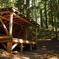 George Lake shelter.- Gobblers Knob + Lake George Hike