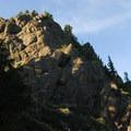 Looking up toward Gobblers Knob.- Gobblers Knob + Lake George Hike