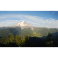 Panoramic view of Mount Rainier (14,411') and Mount Wow (6,030') from Gobblers Knob.- Gobblers Knob + Lake George Hike