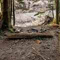 A backcountry campsite along the Clackamas River Trail.- Clackamas River Trail