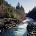 The Narrows on the Clackamas River.- Clackamas River Trail