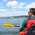 Enjoying the the open water of the Columbia River.- Columbia River: Hayden Island to Lemon Island
