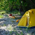 Our chosen spot to camp for the night.- Columbia River: Hayden Island to Lemon Island