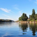 Scenery along the Willamette River.- Willamette River: Jon Storm Park to George Rogers City Park