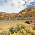 The J.S. Burres Day Use Area at Cottonwood Canyon State Park.- Cottonwood Canyon State Park