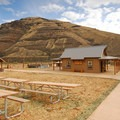 The day use area at the Murtha Ranch in Cottonwood Canyon State Park.- Cottonwood Canyon State Park