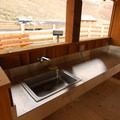 The picnic shelter in Cottonwood Canyon State Park.- Cottonwood Canyon State Park
