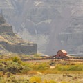The old Murtha Ranch and barn in Cottonwood Canyon State Park.- Cottonwood Canyon State Park