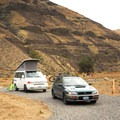 Typical tent/car campsite at Lone Pine Campground.- Lone Tree Campground