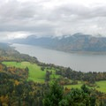 Cape Horn Loop Trail: View of the Columbia River Gorge from Nancy Russel Overlook.- Cape Horn Loop Hike