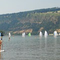 View of the Columbia River from The Spit.- The Spit + Hood River Event Site