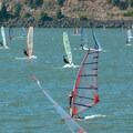 Wind surfers just off of The Spit in Hood River.- The Spit + Hood River Event Site