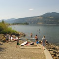 The boat ramp at Hood River Watefront Park.- Hood River Waterfront Park