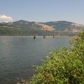 A view of the Columbia River from Hood River Watefront Park.- Hood River Waterfront Park