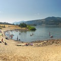 The beach area at Hood River Watefront Park.- Hood River Waterfront Park