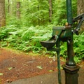 A potable water pump at the Upper Loop in Lower Falls Campground.- Lower Falls Campground