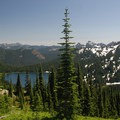 Dewey Lake on Mount Rainier National Park's east side.- Mount Rainier National Park