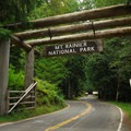 Mount Rainier National Park's Nisqually Entrance.- Mount Rainier National Park