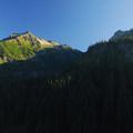 Stevens and Unicorn Peak (6,971 ft) in the Tatoosh Range.- Mount Rainier National Park