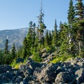 Gorgeous views along the Mount St. Helens Worm Flows Route.- Mount St. Helens Worm Flows Hike