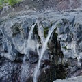Chocolate Falls.- Mount St. Helens Worm Flows Hike