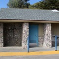 Day use restrooms and showers.- El Capitan State Beach Campground