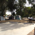A campsite on B Loop (Sites 29-59).- El Capitan State Beach Campground