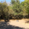 A campsite on A Loop (1-28).- El Capitan State Beach Campground