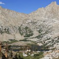 Spring Lake with the Great Western Divide looming.  - Glacier Pass, Sawtooth Pass + Big Five Lakes Hiking Loop