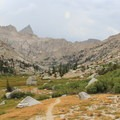 Lost Canyon from below.- Glacier Pass, Sawtooth Pass + Big Five Lakes Hiking Loop