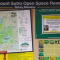 The information kiosk at Rotary Meadow.- Sutro Forest + Mount Sutro Open Space Reserve