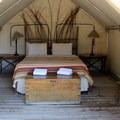 Safari tent interior.- El Capitan Canyon Nature Resort