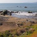 Mile Rock Beach.- Lands End Coastal Trail