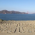 Labyrinth on Lands End Point above Mile Rock Beach.- Lands End Coastal Trail