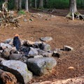 One of the backcountry campsites at Pamelia Lake.- Pamelia Lake + Grizzly Peak